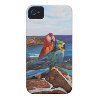 Tropical Birds Overlooking the Bay iPhone 4 Case-Mate Cases