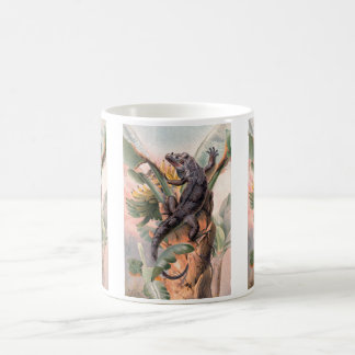 Tropical Black Iguana, Vintage Wild Reptile Animal Coffee Mug