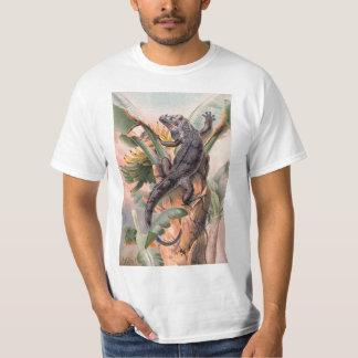 Tropical Black Iguana, Vintage Wild Reptile Animal T-Shirt