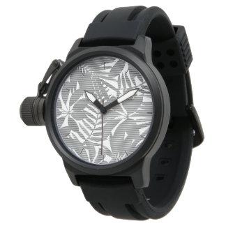 Tropical black stripes watch