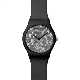 Tropical black stripes watch