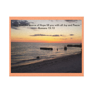 Tropical Bless & Encourage Hope Joy Peace Sunset Stretched Canvas Prints