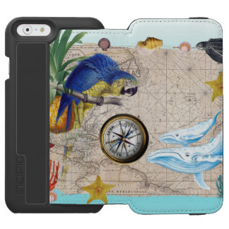 Tropical Blue Collage Incipio Watson™ iPhone 6 Wallet Case