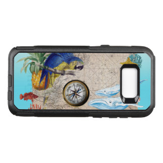 Tropical Blue Collage OtterBox Commuter Samsung Galaxy S8+ Case