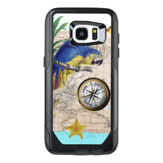 Tropical Blue Collage OtterBox Samsung Galaxy S7 Edge Case