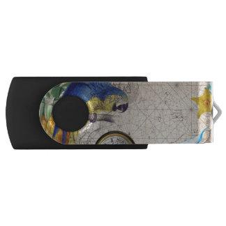 Tropical Blue Collage USB Flash Drive