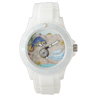Tropical Blue Collage Watch
