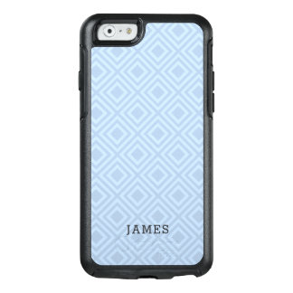 Tropical Blue Diamond Pattern With Custom Name OtterBox iPhone 6/6s Case