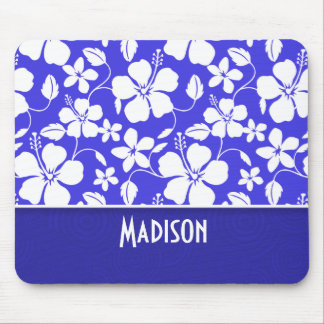 Tropical Blue Hibiscus; Cute Mouse Pad