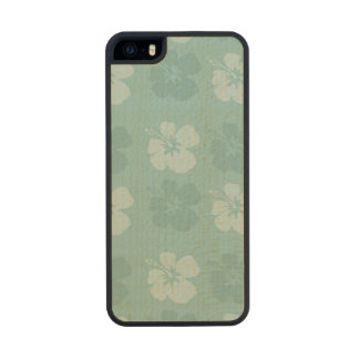 Tropical Blue Hibiscus Flowers Carved® Maple iPhone 5 Slim Case