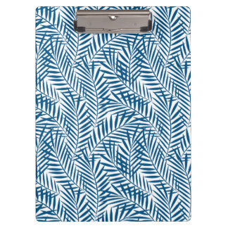 Tropical blue palm leaf clipboard