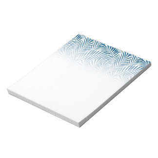 Tropical blue palm leaf notepad