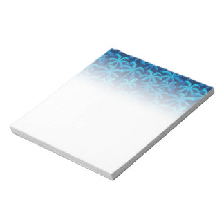 Tropical blue palm trees notepad