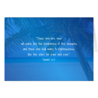Tropical Blue Pastor Appreciation Leader Scripture Card