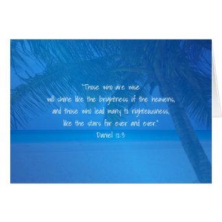 Tropical Blue Pastor Appreciation Leader Scripture Greeting Card