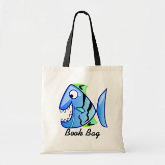 Tropical blue Piranha book bag