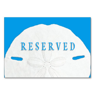 Tropical Blue Sand Dollar Reserved Seating Card