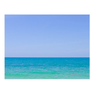 Tropical blue sea and sky. postcard