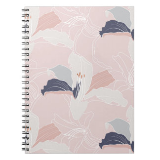 Tropical Blush Floral Notebook