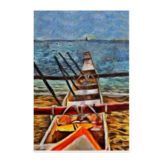 Tropical Boat Acrylic Wall Art