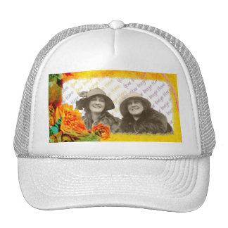 Tropical Borders photo template Mesh Hats