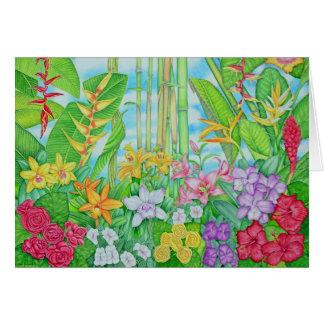 Tropical Botanical Card