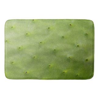 Tropical Botanical Green Cactus Photo Bath Mat