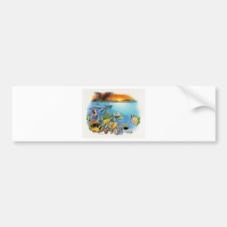 Tropical Breeze A Tropical Fish Collage Bumper Sticker