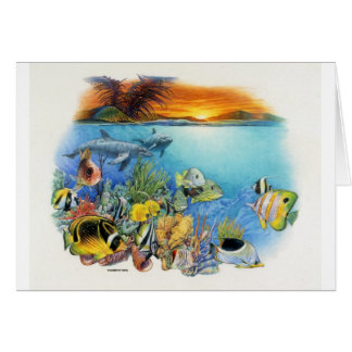 Tropical Breeze A Tropical Fish Collage Card