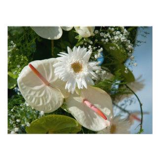 Tropical Bridal Bouquet Custom Invites
