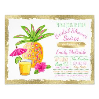 Tropical Bridal Shower Soiree 11 Cm X 14 Cm Invitation Card