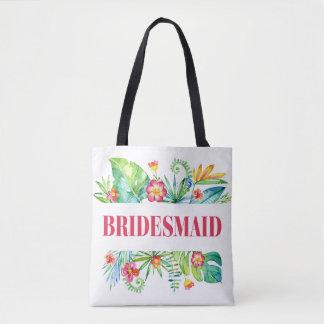 Tropical   Bridesmaid Destination Wedding Tote Bag