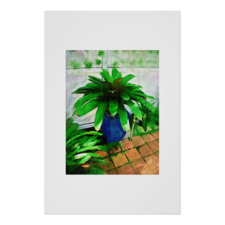 Tropical Bromeliad - Afternoon in the Greenhouse Print