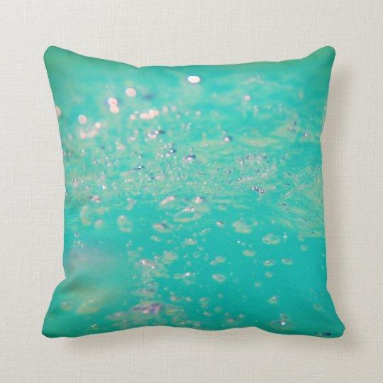 Tropical Bubbles Throw Pillow