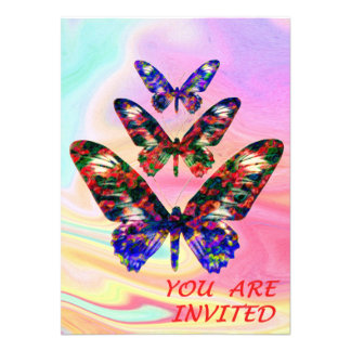 Tropical butterflies party/wedding invitation