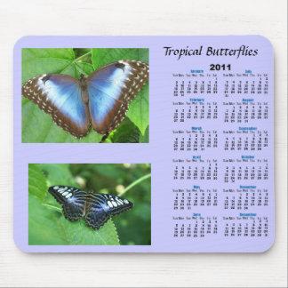 Tropical Butterfly Calendar Mousepad