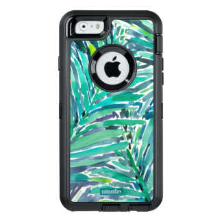 Tropical Canopy Palm Jungle Watercolor Print OtterBox Defender iPhone Case