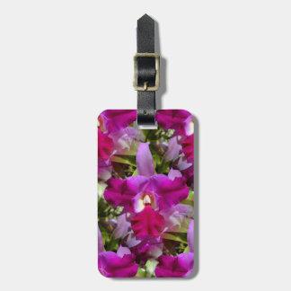 Tropical Cattleya Orchid Flower Luggage Tag