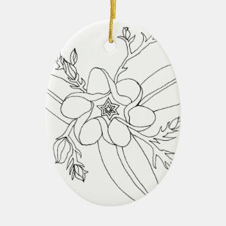 Tropical Ceramic Ornament