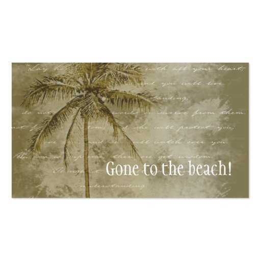 Tropical Change of Address Business Cards