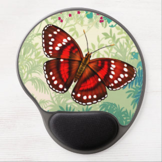 Tropical Cherry Red Butterfly Gel Mousepad