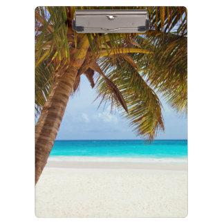 Tropical Chilling Beach Scene Clipboards