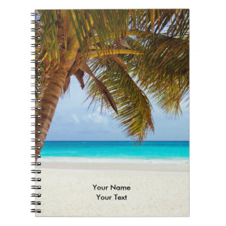 Tropical Chilling Beach Scene Notebook