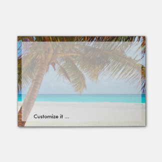Tropical Chilling Beach Scene Post-it Notes