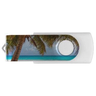 Tropical Chilling Beach Scene USB Flash Drive