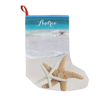 Tropical Christmas Beach Starfish Stocking