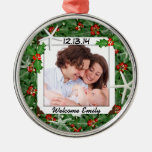 Tropical Christmas New Baby Photo Ornament