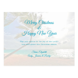 Tropical Christmas New Year Christian Message Card