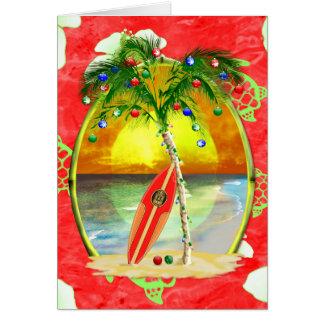Tropical Christmas Palm Tree Card