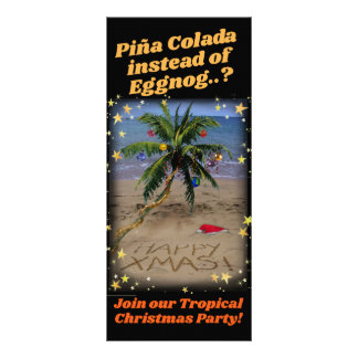 Tropical Christmas Party Rack Card